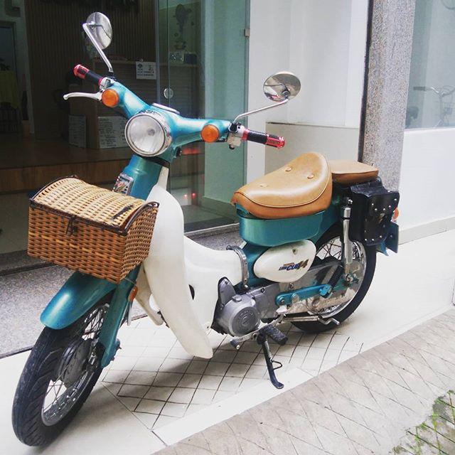 スタッフのVanちゃんのスペアバイクがうさぎやにやってきました!めっちゃ可愛いカブです!激カワ!やばい!50ccなので免許がなくても運転できますよーさあ、名前を考えよう♪#usagiyah #兎家 #兎家ゲストハウス #うさぎや #日本人宿 #ゲストハウス #ドミトリー #Guesthouse #ベトナム #Vietnam #ホーチミン #バックパッカー #バックパッカー女子 #一人旅 #海外旅行 #50cc #バイク #めっちゃ可愛い #激カワ #バイク旅