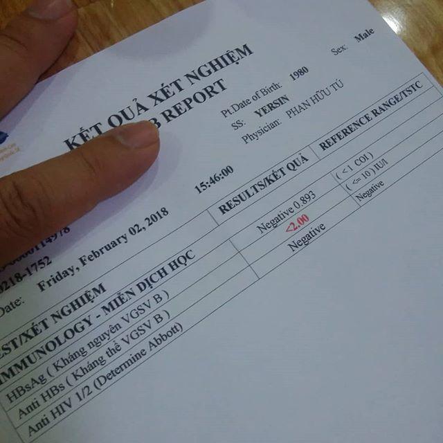 ゲストハウスのお客様が、お友達の女の子と血液検査に行かれました。ベトナムではリーズナブルな値段で血液検査もできます!日本だとそこそこする検査費もここならたいした値段にははなりません。.無事にHIVに感染してないこともわかったとのことです(笑).ホーチミンの日本人ゲストハウス兎家(うさぎや)ゲストハウスusagiyah.com.#usagiyah #兎家 #兎家ゲストハウス #うさぎや #日本人宿 #ゲストハウス #ドミトリー #Guesthouse #ベトナム #Vietnam #ホーチミン #バックパッカー #バックパッカー女子 #一人旅 #海外旅行 #旅好きの人と繋がりたい #出会い #検査 #検査費 #血液検査 #HIV #エイズ