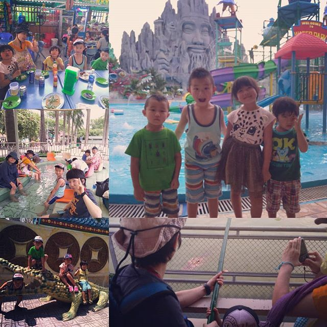 家族来越三日目は狂ったディズニーランドとも言われるスイティエン公園へ。スイティエン公園は東京ディズニーランドよりも広い(らしい)ので、1日見て廻っても全く時間が足りません!今回はワニ釣りとプールをメインに遊びました。帰りのタクシーは子供たちは全員撃沈してました(笑).ホーチミンの日本人ゲストハウス兎家(うさぎや)ゲストハウスusagiyah.com.#usagiyah #兎家 #兎家ゲストハウス #うさぎや #日本人宿 #ゲストハウス #ドミトリー #Guesthouse #ベトナム #Vietnam #ホーチミン #バックパッカー #バックパッカー女子 #一人旅 #海外旅行 #旅好きの人と繋がりたい #出会い #家族旅行 #プール #ワニ釣り #狂ったディズニーランド #スイティエン公園