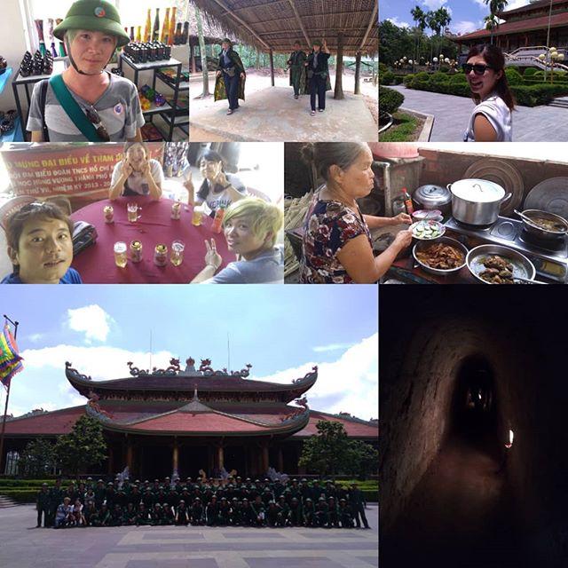ホーチミン近郊のベトナム戦争の史跡といえばクチトンネル。今日はそのクチトンネルにお客様と非番のボランティアスタッフとで遊びに行きました!今回はツアーを使わずローカルバスを乗り継いでトンネルまで♪多少難易度は高めですが、親切なベトナムの方々にいろいろ助けていただいて到着しました〜。ツアーで何度か行ったことがあるんですが、自力で行くのは初めて(*^_^*)着いたところはツアーで行ったことある場所と違いました!よくわからんくてウロウロ歩くとベトナム軍の新兵らしき人達と合流(笑) なぜか一緒に記念撮影Σ(*゚◇゚*)もちろんトンネルも堪能して一日たっぷり楽しみました♪なんかいろいろあってめちゃ楽しかった!←雑な感想(苦笑).ホーチミンの日本人ゲストハウス兎家(うさぎや)ゲストハウスusagiyah.com.#usagiyah #兎家 #兎家ゲストハウス #うさぎや #日本人宿 #ゲストハウス #ドミトリー #ベトナム #Vietnam #ホーチミン #HCMC #バックパッカー #バックパッカー女子 #一人旅 #海外旅行 #旅好きの人と繋がりたい #出会い #クチトンネル #ベトナム軍 #新兵 #記念撮影 #ベトコン #ローカルバス #ベトナム戦争